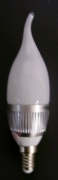 3W LED Candle Bulb with tail E14